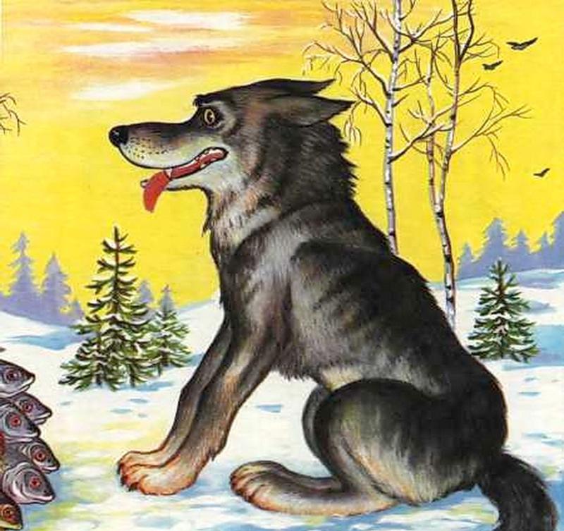 проводили картинки волчат из сказок павлин
