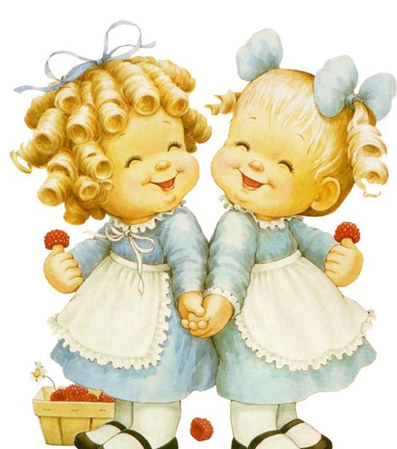 Двойни малыши открытка рисунок, поздравления днем рождения