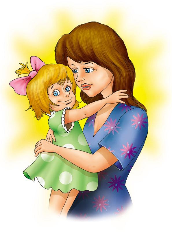 Картинка мамы с ребенком нарисованные, прикольные