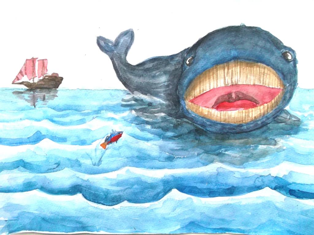 киплинг откуда у кита такая глотка картинки обслуживает все направления