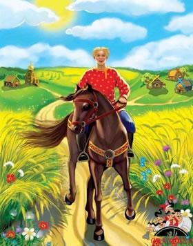 Иван крестьянский сын и мужичок сам с пёрст, усы на семь вёрст