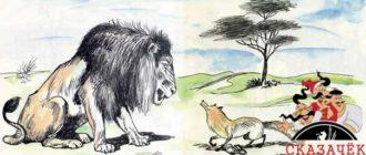 Как лиса перехитрила льва-