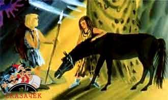 древние люди и прирученная лошадь