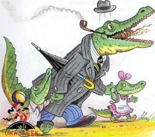 Мойдодыр крокодил дети и папа отец