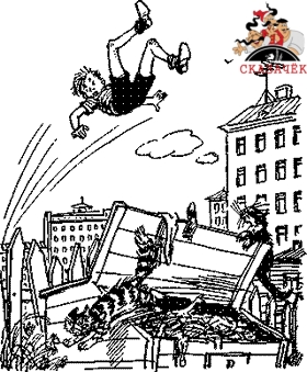 Толя Клюквин подлетел над землей