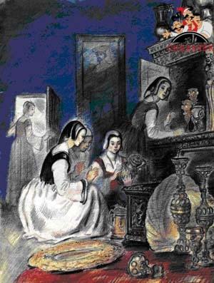 Сказки Шарля Перро - Синяя борода Рис. 11