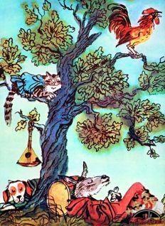 Бременские музыканты спят под деревом