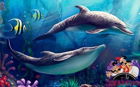 Дельфины и пескарь