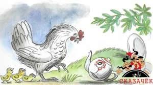Федорино горе курица чайник