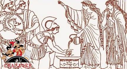 Как Язон и Медея очистились от греха у волшебницы Кирки
