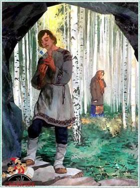 Данилушка в лесу
