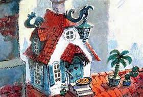 Карлсон, который живёт на крыше, опять прилетел читать рассказ Астрид Линдгрен