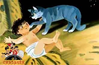 Кошка, гулявшая сама по себе и ребенок