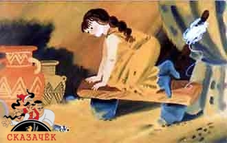 женщина в пещере