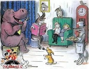 Крокодил звери и дети в комнате
