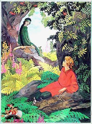 Глядит, а перед ним на грудке руды у большого камня женщина какая-то сидит. Спиной к парню, а по косе видать — девка