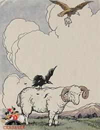 Орел, галка и пастух