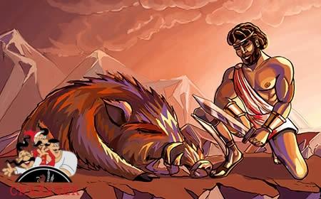 Подвигы Тесея на пути в Афины