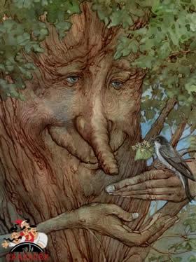Поющее дерево и птица-говорунья