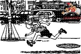 Толя Клюквин убегает