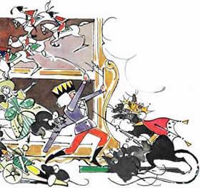 битва Щелкунчика солдатиков мышей и мышинного короля
