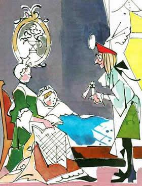 доктор у кроватки малыша