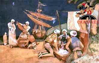 развели костёр и стали варить пищу, третьи купались в прохладных ручьях или гуляли по острову.