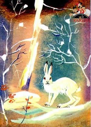 Снег и заяц сказка