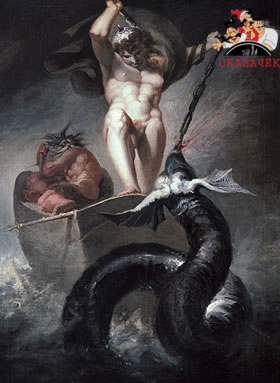 Тор и змея Митгард