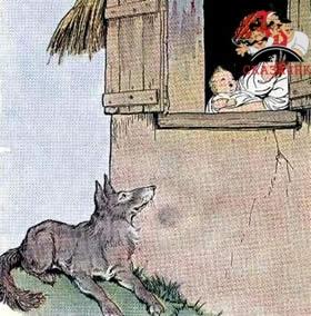 Волк, мать и ребенок